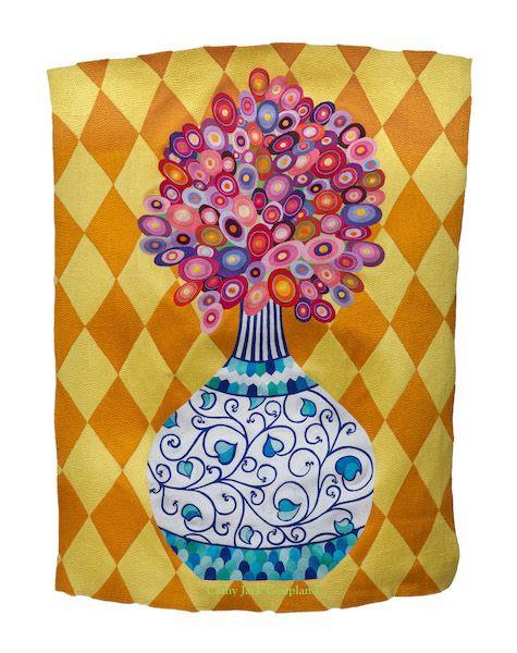 Arabesque ©2017 Free machine embroidered art quilt.