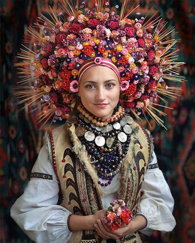 Spectacular Ukrainian Crowns On Slavic Inspired Photoshoot Look Absolutely…