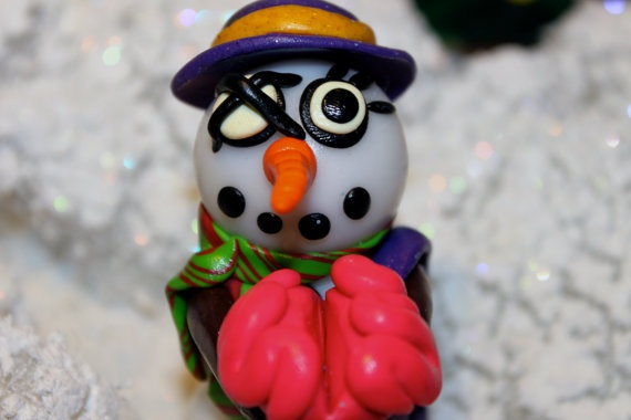 Mrs Potter the Zombie Snowwoman by jessicarenahan on Etsy, $30.00