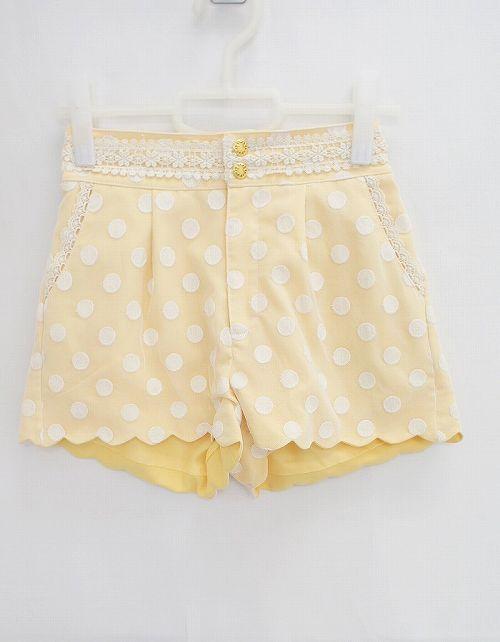 yellow polka dot shorts