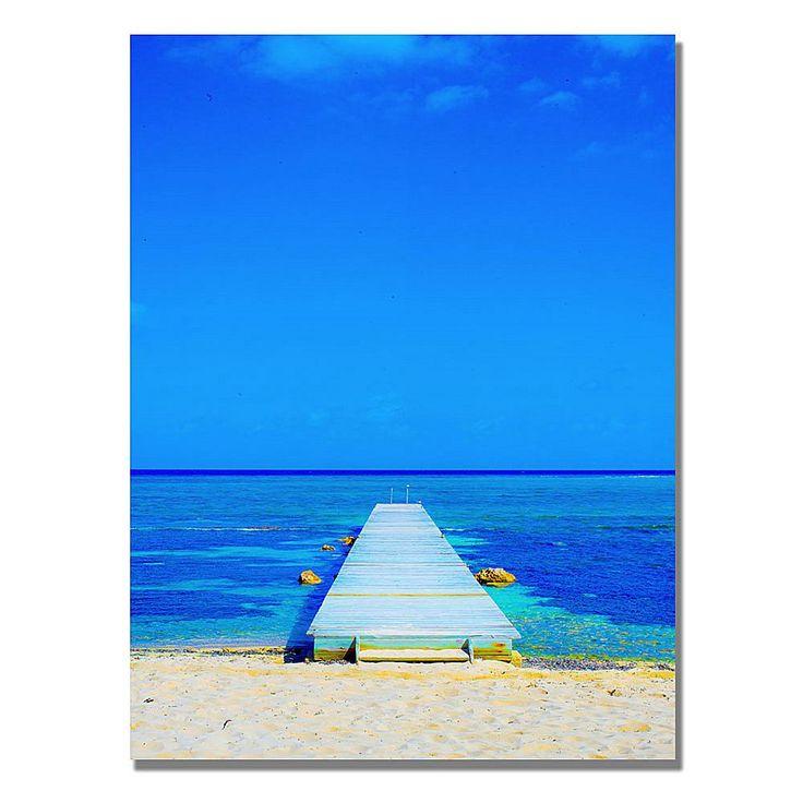 "Home Marketplace Preston ""Beach-Pier"" Canvas Art - 24"" x 32"""