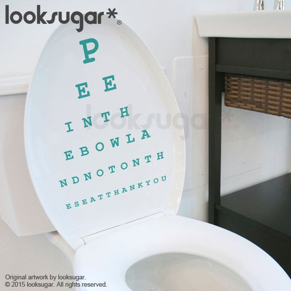 eye chart decal bathroom wall sticker topography by looksugar
