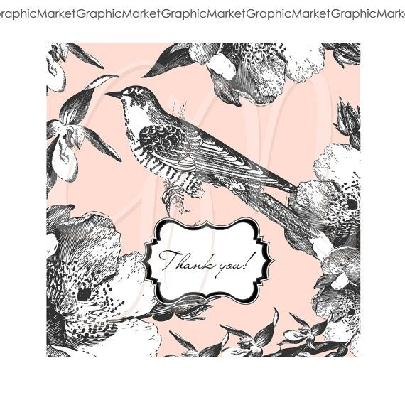 Hand Drawn Bird and Butterfly Cards - Luvly Marketplace | Premium Design Resources #cards #digitalcards