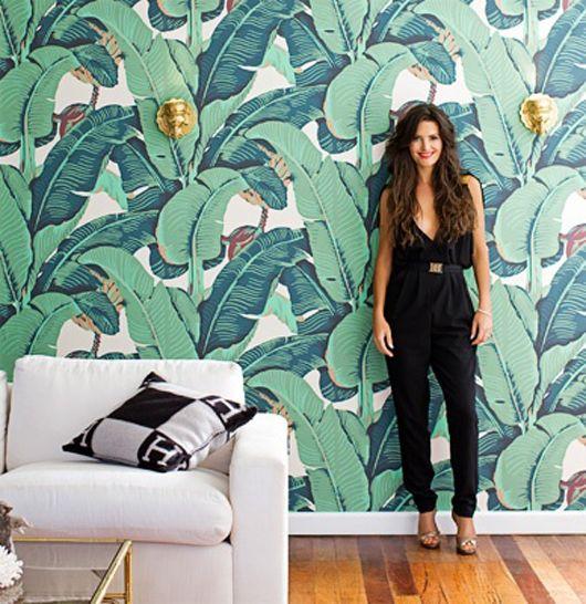Palm beach decor, amazing palms wallpaper Design Crush | Natalie Merrillyn