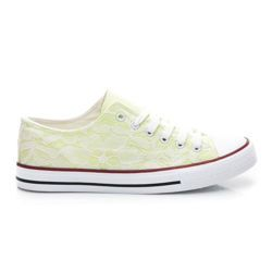 lace sneakers Women, Spring sneakers. Incredibly convenient and comfortable. Classic binding. White outsole and extra-drenched peaks. The lace design adds lightness. Great for pants and skirts to. Material: textiles, lace   http://cosmopolitus.eu/product-eng-42698-LACE-Trampki.html #Womens #sports #sneakers #laced #sneakers #forrunning #mustache #fashionable #sneakers