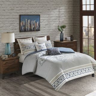 Shop for INK+IVY Sky Blue Cotton Printed Duvet Cover Mini Set. Get free shipping at Overstock.com - Your Online Fashion Bedding Outlet Store! Get 5% in rewards with Club O! - 25504672