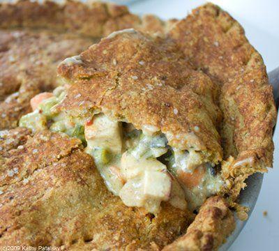 Homestyle Tofu Veggie Pot Pie. Vegan!