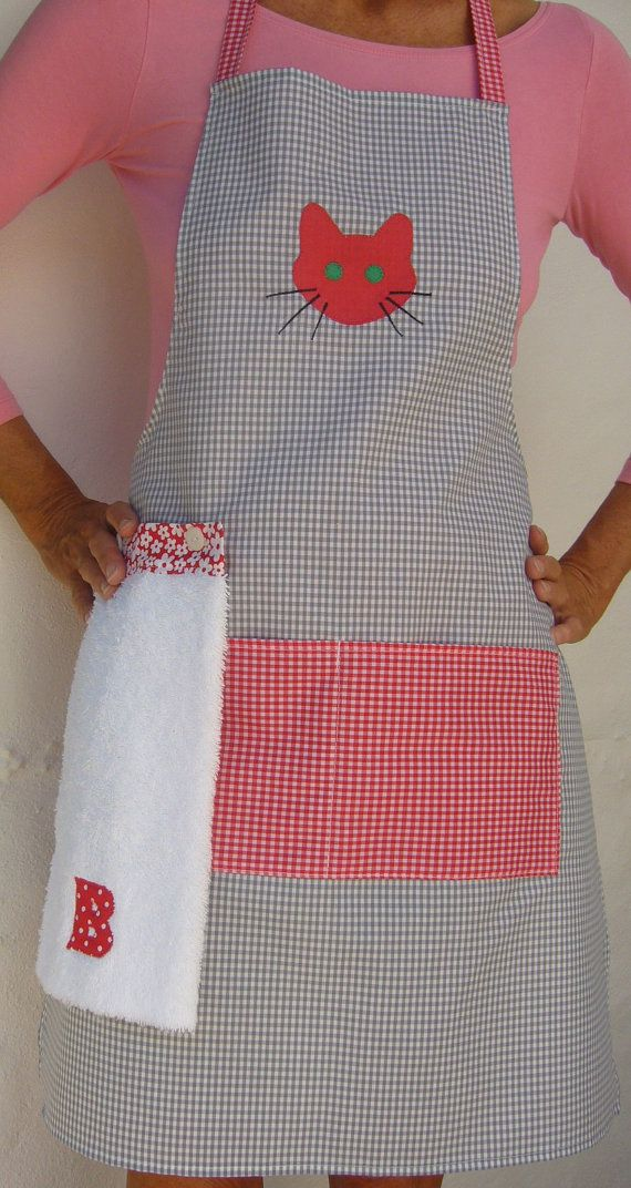 Personalised Apron with Removable hand towel made to order by DebsMade at ETSY.COM