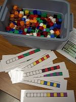 Math Tubs ~ pattern with unifix cubes