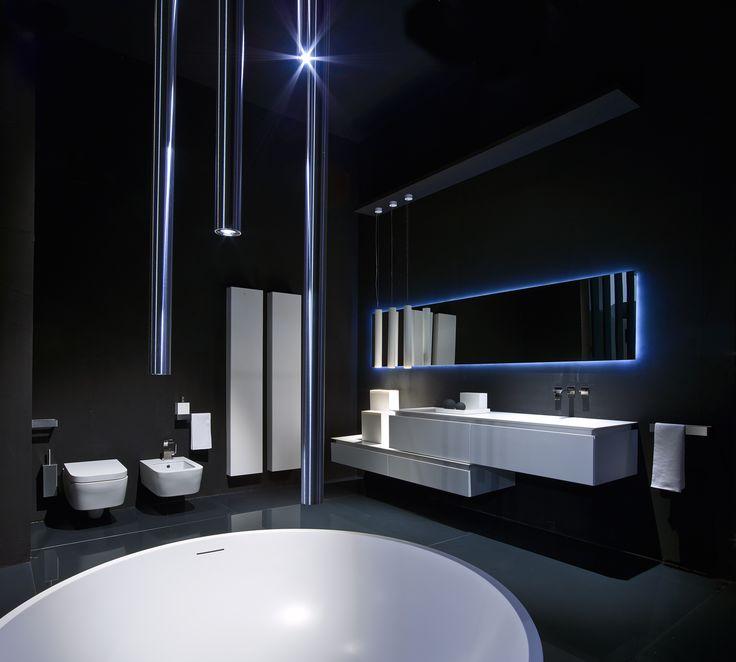 Superior White Bathrooms Ideas   White Cabinet, White Corian Countertop, White Tall  Units, White