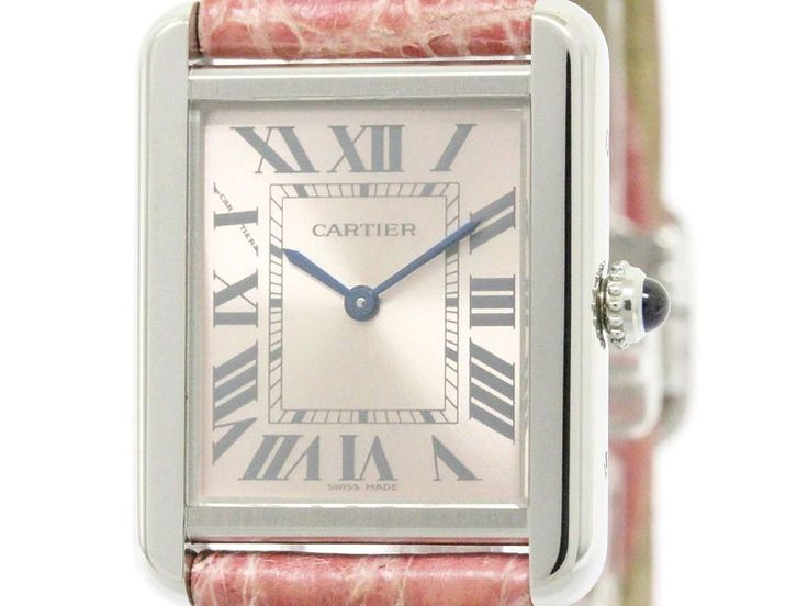 Polished #CARTIER Tank Solo Steel Leather Quartz Ladies Watch W5200000 (BF107505): #eLADY global accepts returns within 14 days, no matter what the reason! For more pre-owned luxury brand items, visit http://global.elady.com