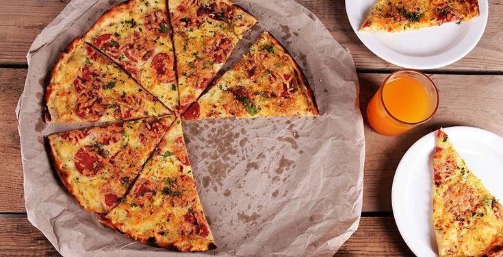 Pizzabunn av havregryn