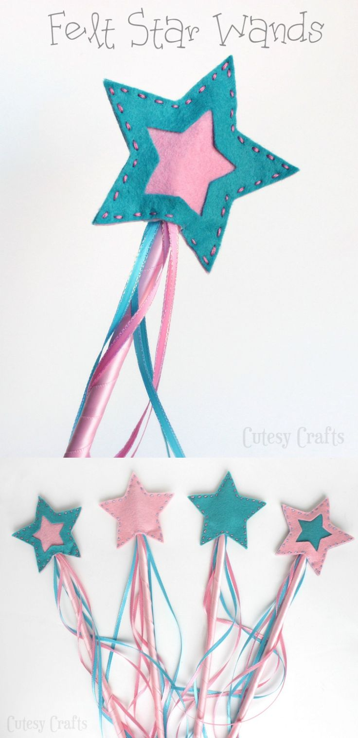 Felt star wands birthdays birthday party dresses and for Birthday wand