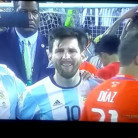 Video: Messi crying #CopaAmerica. Same, man. Same