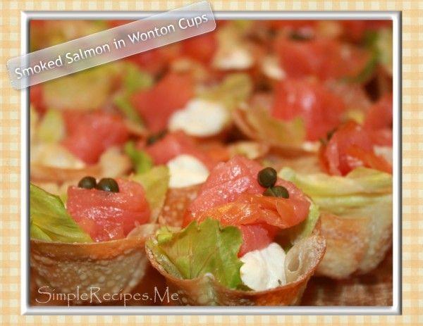 Smoked Salmon in Wonton Crispy cups – Simple Recipes