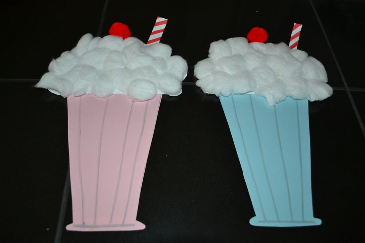 Milk shakes 50 39 s theme decor my crafts pinterest for Decoration 50 s