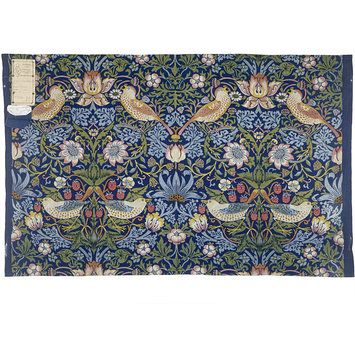 Strawberry Thief  This is one of Morris best-known designs. He based the pattern and name on the thrushes which frequently stole the strawberries in the kitchen garden of his countryside home, Kelmscott Manor, in Oxfordshire
