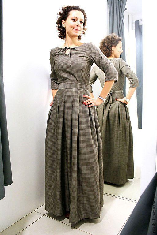 """Купить Шерстяное платье в пол с рукавом """"СКАРЛЕТТ""""(копия) - платье из шерсти, шерстяное платье, платье в пол"""