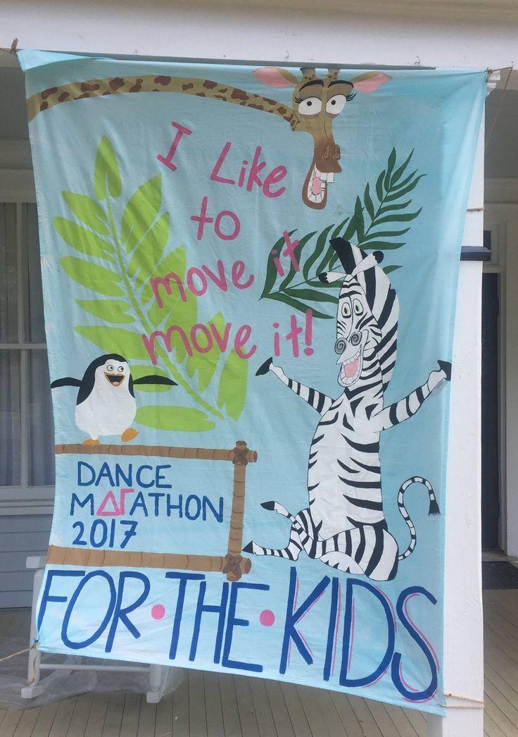 Eta Chi-Georgia College's Dance Marathon banner