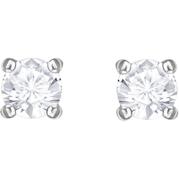 e07258888 Shine all day long with this delicate pair of stud earrings in rhodium  plating. A perfect gift, they twinkle with timeless elegance.