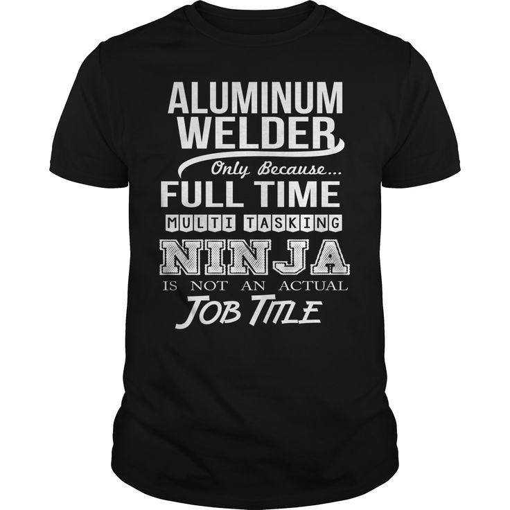 (Tshirt Amazing Sale) ALUMINUM WELDER NINJA Discount 15% Hoodies Tee Shirts