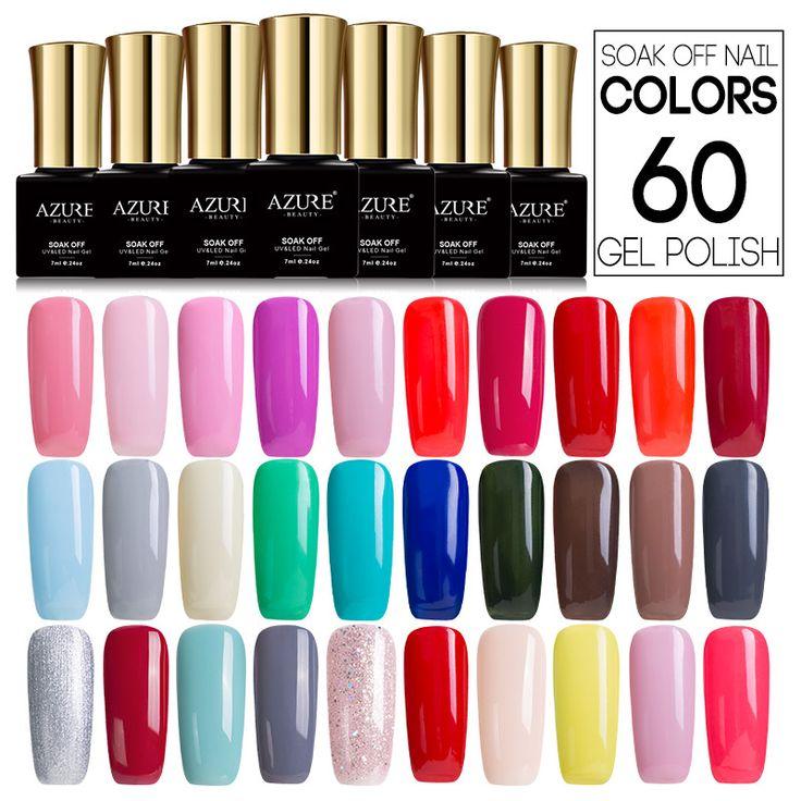 Azure 7ML Long Lasting Pro Gel Polish UV Led Nude Color Series Nail Gel Polish French Style Gel Nail Varnish Soak off Gel Enamel