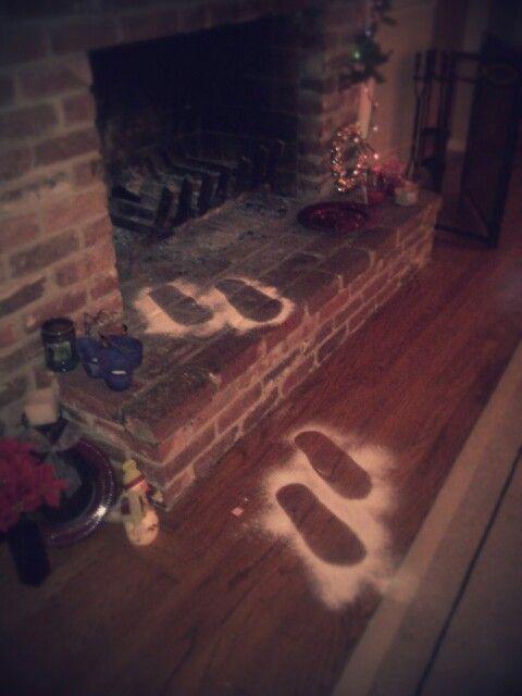 Santa foot prints