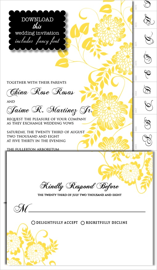 17 Best Images About Wedding Invite Templates On Pinterest