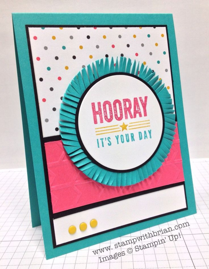 Hip Hip Hooray, Stampin' Up!, Brian King, FabFri36