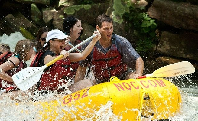 Nantahala River rafting is the nation's best introduction to whitewater on the Southeast's quintessential mountain river. Raft near Bryson City and the Great Smoky Mountains.