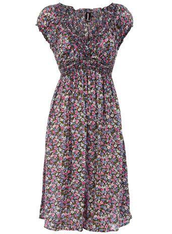 Blue/Pink print dress $17