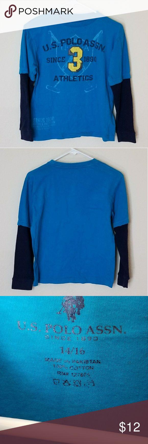 U.S. Polo Association Graphic T Shirt U.S. Polo Association Graphic T Shirt in great condition U.S. Polo Assn. Shirts & Tops Tees - Long Sleeve