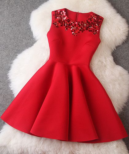Untitled #beading christmas  #red  #dress -  #young