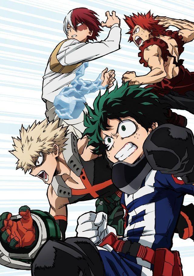 Boku No Hero Academia Bakugou Katsuki Eijirou Kirishima Todoroki Shoto Izuku Midoriya Hero Wallpaper Anime My Hero