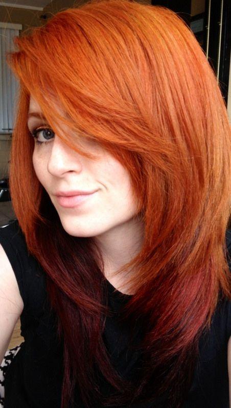 Orange with Red under