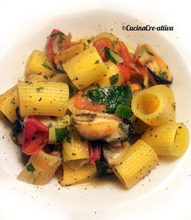 Ditaloni risottati con cozze e verdure – Cucina Cre-Attiva
