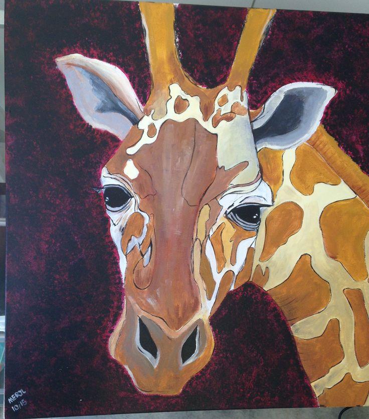 Giraffe painting done oct 15