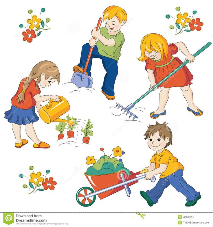 Illustration of Kids Gardening | Plant Book Project ...