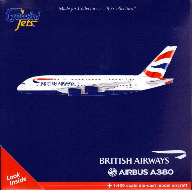 GeminiJets A380 British Airways Airplane Model (1:400 Scale)