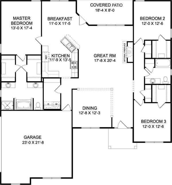 26 best images about new home plans 1 on pinterest for Slab house plans