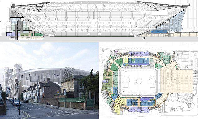 Tottenham reveal design for new £400million stadium