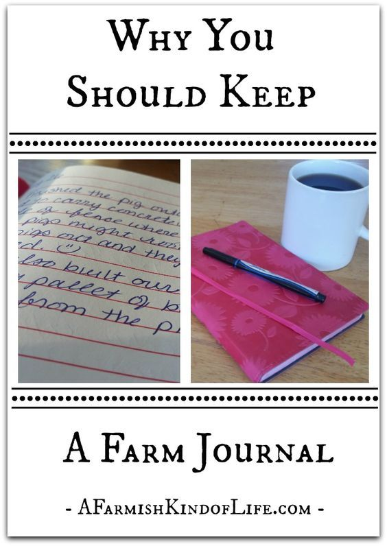 Why Should You Keep A Farm Journal? Write it all down, because you KNOW you will forget this by next year!
