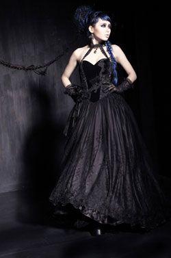 Gothic court dress - Gothic dresses