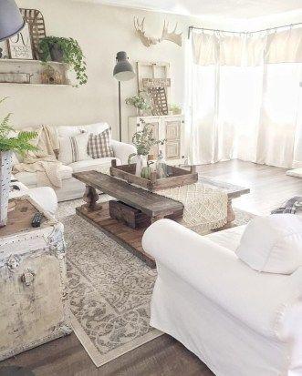 46 cozy farmhouse style living room decor ideas garden modern rh pinterest com
