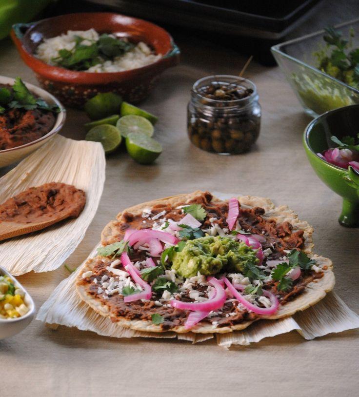 Tlayuda, street food in Oaxaca - via Sweet Life