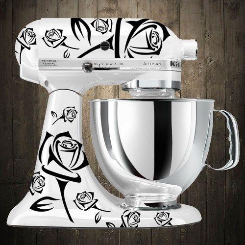 kitchen aid decals | Roses black Kitchen aid mixer decals