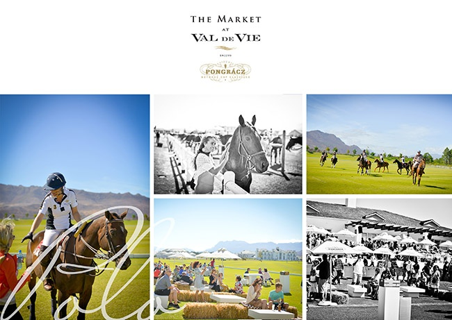 During the Market at Val de Vie guests get to watch a polo game while sipping on white wine and shopping for fresh bread