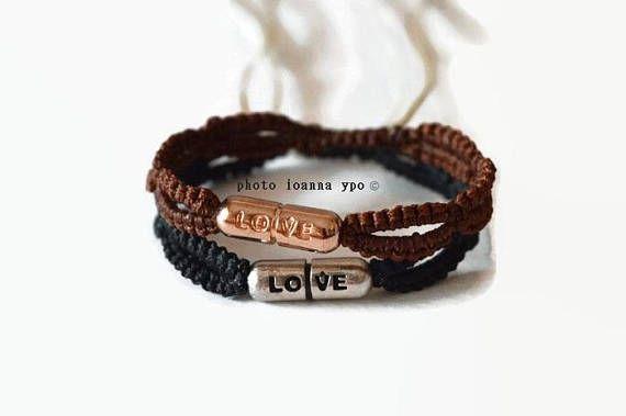 couples macrame bracelet love his and hers set love is   #stekiapantou #ioannaypo #thessaloniki #syros #macramejewelry #macramejewellery #macramebracelet #macrameart #macramedesign #greekdesigner #jewelryartist #jewelryaccessories #egst #etsyunique #etsybracelet #etsybestsellers #etsyjewelryshop #etsyjewelryshopowner #etsyjewelry#etsyhandmade #etsygiftideas