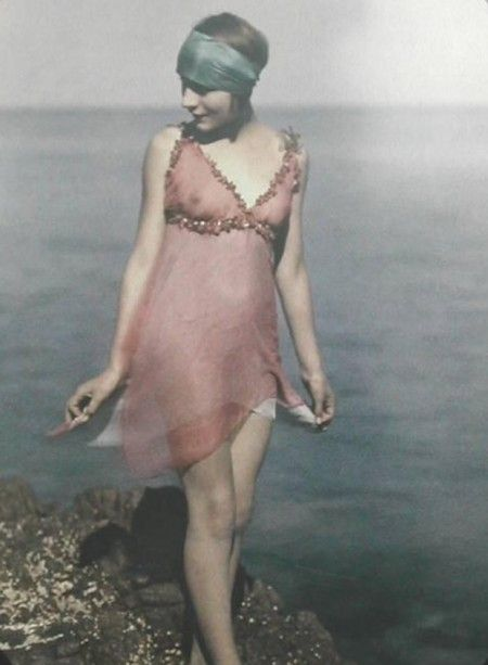 Autochromes by Augustus and Louis Lumiere.    The autochromium was patented on December 17th 1903 by the brothers Lumiere.   The autochromium plate produced transparent pictures and was used between 1907 and 1932.