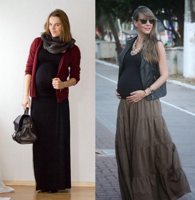 8_moda gestante_look para grávidas_look de inverno para gravidas_looks de trabalho para gestantes_moda para trabalhar_dicas de moda para grávidas_gravidas saia longa_vestido longo_gravida chique